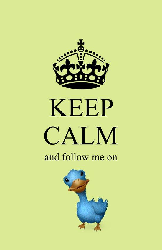 KEEP CALM Twitter Art Print