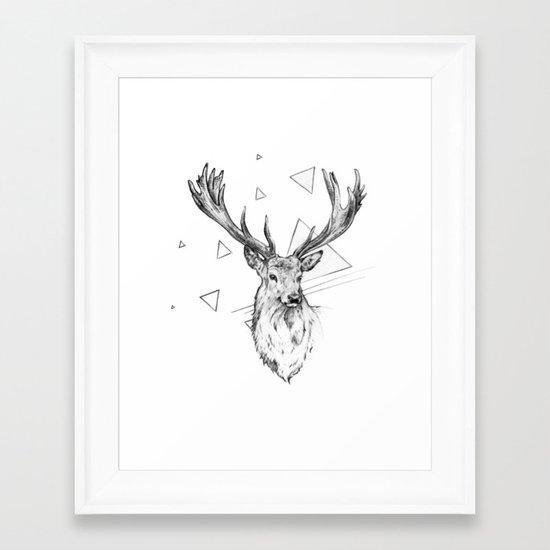 Frankly Deer Framed Art Print