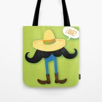 Mexstache Tote Bag
