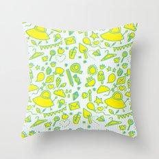 doodle brightness Throw Pillow