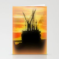 Silhouette of a Ship Stationery Cards