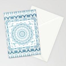 In Blue (Pattern Mandala) Stationery Cards