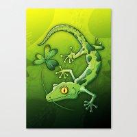 Saint Patrick's Day Gecko Canvas Print