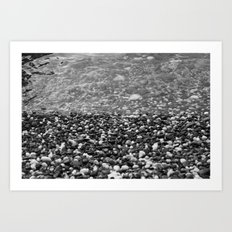 Stone Beach Art Print