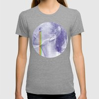 Lacryma Color 3 Womens Fitted Tee Tri-Grey SMALL