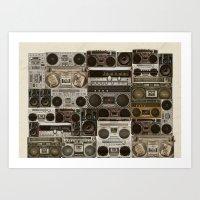 Wall Of Sound Art Print