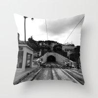 Duboce Tunnel Again Throw Pillow