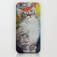 iPhone & iPod Case featuring Kitten and Butterfly by Michael Creese