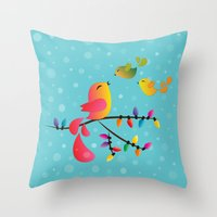 Welcome Home, My Babies! Throw Pillow