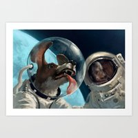 In Out Space Art Print