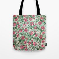 Retro French Floral Pattern Tote Bag