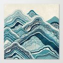 Blue Hike  Canvas Print