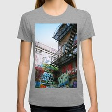 Fire Escape Womens Fitted Tee Tri-Grey SMALL