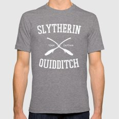 Hogwarts Quidditch Team: Slytherin Mens Fitted Tee Tri-Grey SMALL