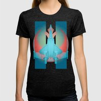Into the future USAF F22 Womens Fitted Tee Tri-Black SMALL