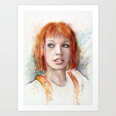 Leeloo Art Print