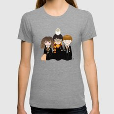 Kokeshis Hermi, Harry and Ron Womens Fitted Tee Tri-Grey SMALL