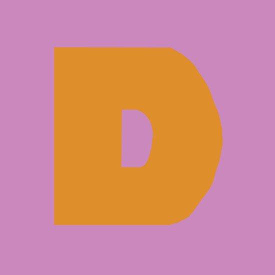 Orange D Art Print