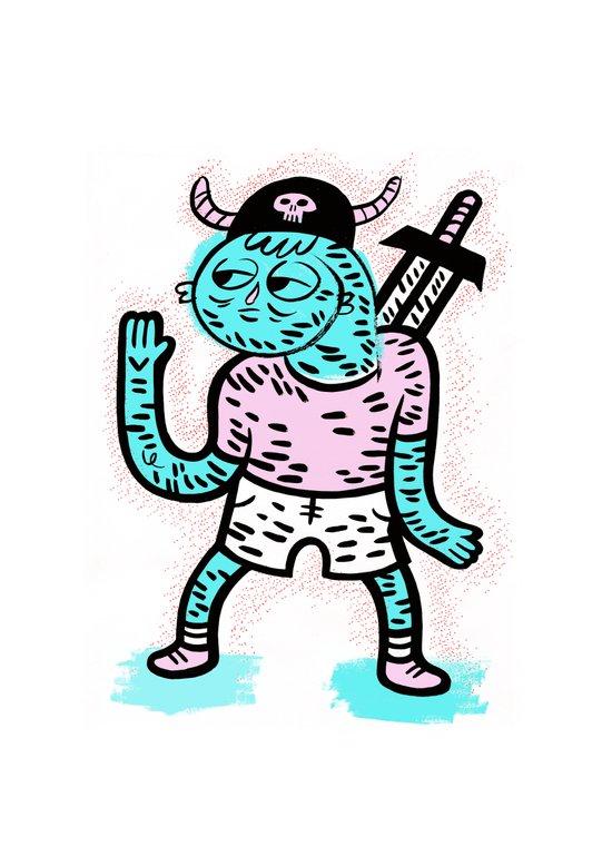Pirate Guy Art Print