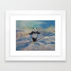 Panda Tightrope Framed Art Print