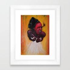 Smoke scream Framed Art Print