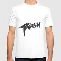 Trash Mens Fitted Tee White SMALL