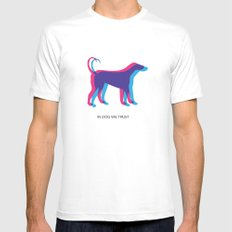 In Dog We Trust SMALL White Mens Fitted Tee