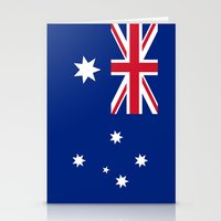 Australian flag - Authentic version Stationery Cards