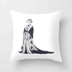 Yuki Onna Throw Pillow