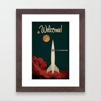MarsUnited Welcome Framed Art Print