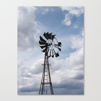 Left to the Elements...Abandoned Windmill Canvas Print