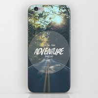 The Adventure Begins iPhone & iPod Skin