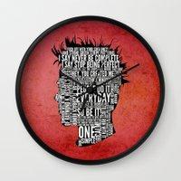 Typography Tyler Durden … Wall Clock