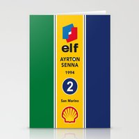 Senna, Grand Prix, Formu… Stationery Cards