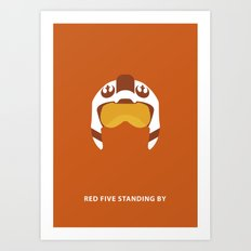 Star Wars Minimalism - Red Five Art Print