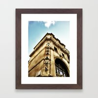 London by iPhone- wyndhams theatre Framed Art Print