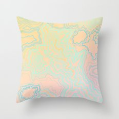 TOPOGRAPHIC MAP Throw Pillow