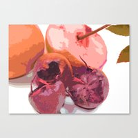 Fruits Abstract Purple Canvas Print