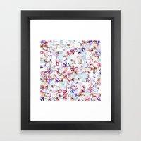 Spring Stitch Framed Art Print