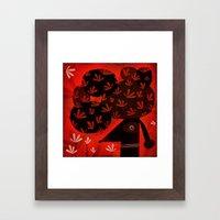 FLOWERY POMPADOUR Framed Art Print