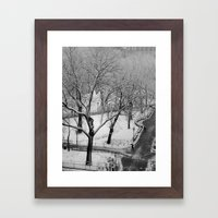 Winter Frost Framed Art Print