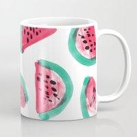 Painted Watermelon Pattern Mug