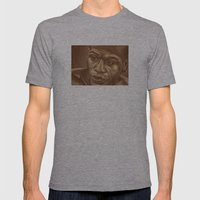 Round 3...floyd Mayweath… Mens Fitted Tee Athletic Grey SMALL