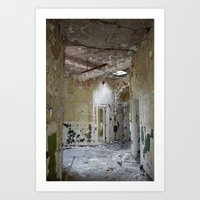 Forgotten Corridors Art Print