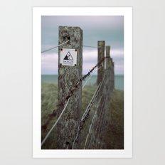 on the edge... Art Print