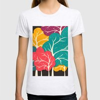 Happy Forest Womens Fitted Tee Ash Grey SMALL