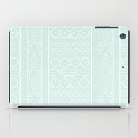 Mudcloth in mint iPad Case