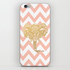 golden elephant & chevron iPhone & iPod Skin