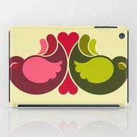 Olive Rosebirds iPad Case