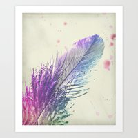 feather Art Prints featuring Feather  by Monika Strigel